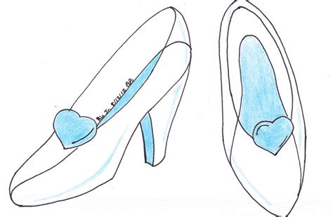 how to draw a glass slipper how to draw glass slipper
