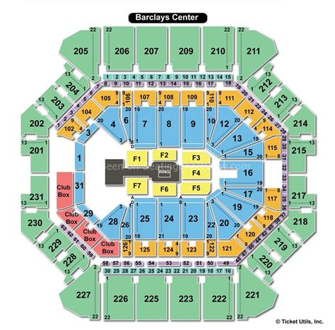 barclays center ny seating chart view