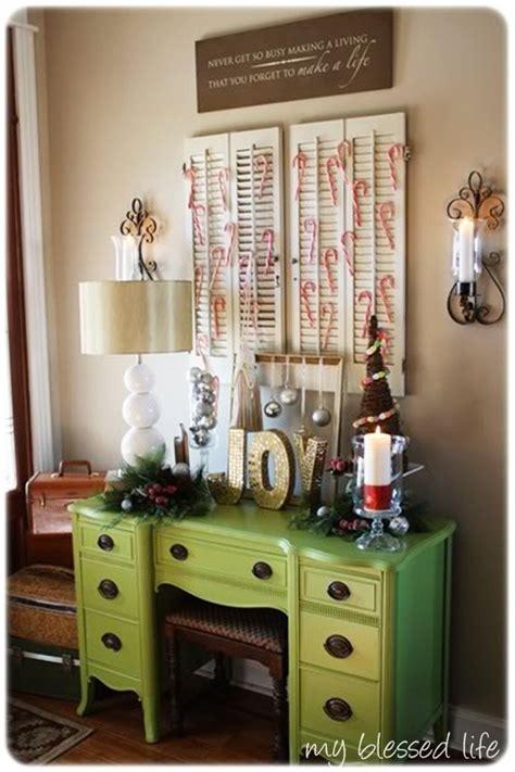 thrift store home decor ideas that apple green desk