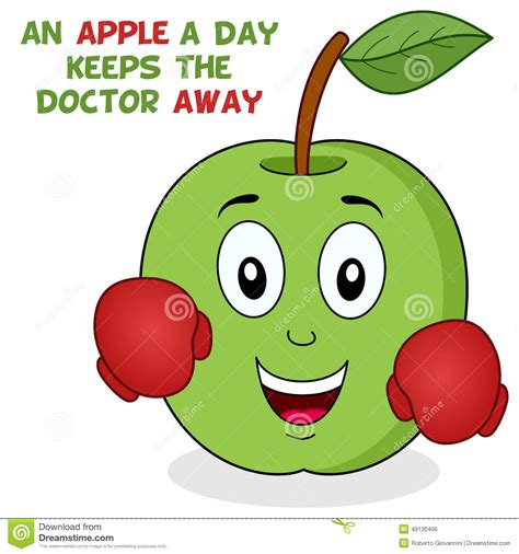 a day bilder an apple a day keeps the doctor away stock image