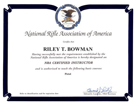 Riley Bowman Colorado Ccw Permit Certified Instructor Colorado Concealed Carry Ccw Certificate Templates