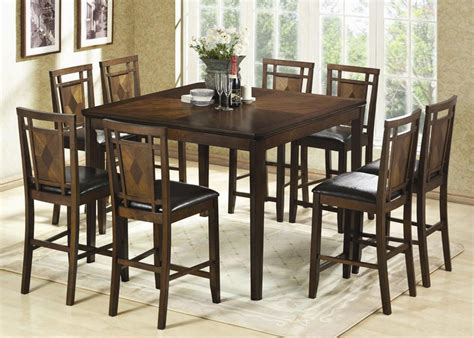 bett europalette height of dining room table 7pc square counter