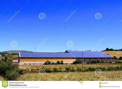 roof of photovoltaic royalty free stock photography