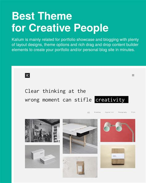 theme wordpress free creative kalium creative wordpress theme
