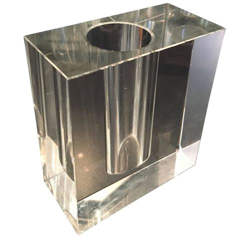 Block Vases by Glass Block Vase For Sale At 1stdibs