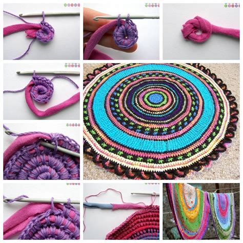 tshirt rug wonderful diy crochet rug from t shirt