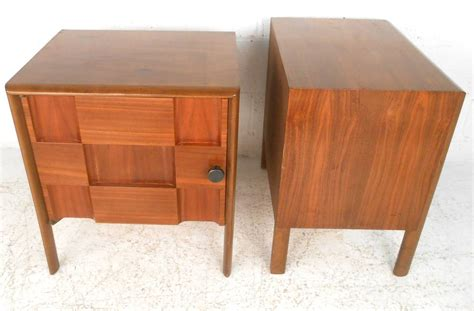 unique nightstands pair of unique mid century modern cabinet front