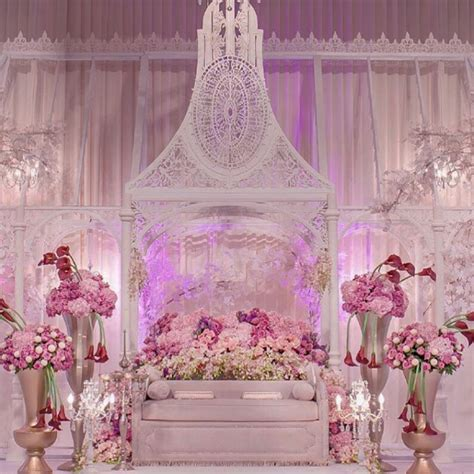 glamorous malay weddings 10 dais setups with fresh flowers