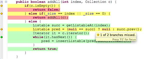 java color codes eclemma source code annotation