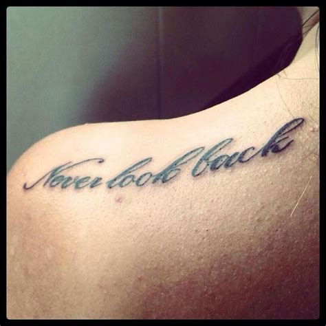 never look back tattoo never look back teuta