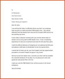 Resignation Letter For Nurses Resignation Letter General Resumes