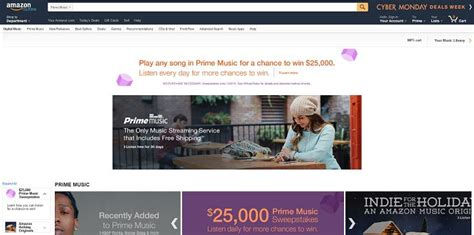 Amazon Cyber Monday Sweepstakes - amazon prime music cyber monday sweepstakes
