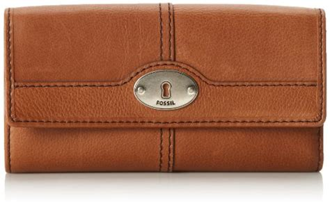 Fossil Marlow Zip Coin Wallet In Chestnut aesthetic official fossil marlow flap clutch wallet chestnut one size