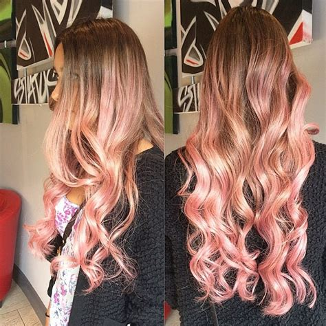 light pink highlights curly hair hairstyles