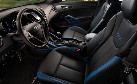 hyundai veloster turbo interior car and driver