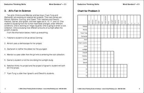 printable logical thinking puzzles deductive reasoning worksheets lesupercoin printables