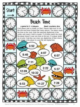 printable board games time end of year math games third grade end of the year