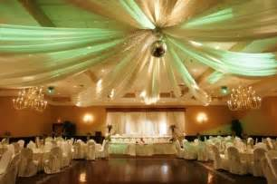 Tulle Ceiling Draping Reception Hall Decoration Ideas For Wedding