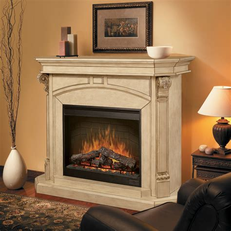 bromley parchment electric fireplace cabinet mantel