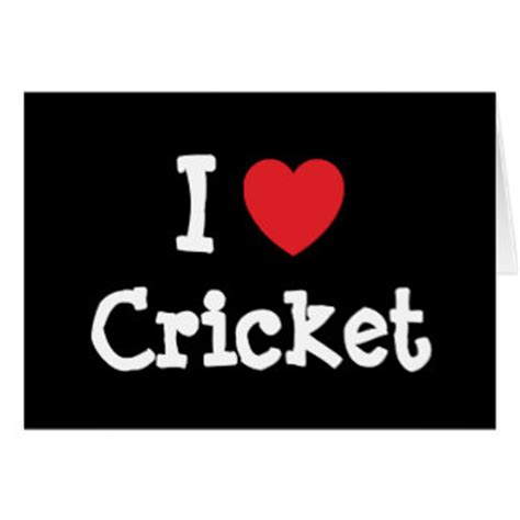Cricket Gift Card - i heart cricket gifts t shirts art posters other gift ideas zazzle