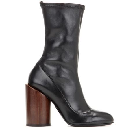 givenchy leather ankle boots in black lyst