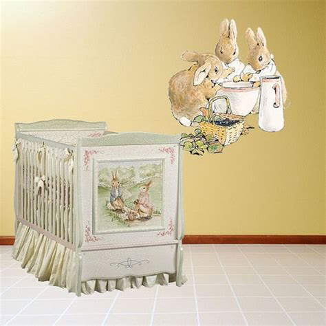 rabbit wall stickers rabbit bunnies meal decal peel and stick wall