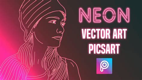neon vector art picsart tutorial  easy