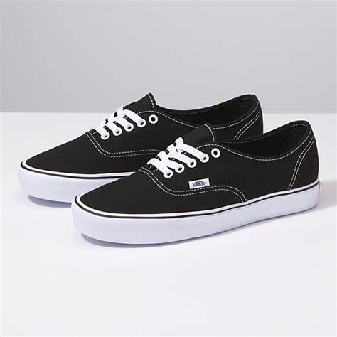 Authentic Black canvas authentic lite shop shoes at vans