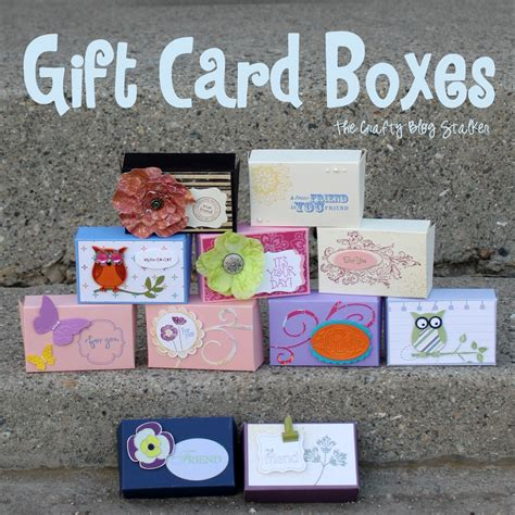 Create A Gift Card - how to make a gift card box the crafty blog stalker