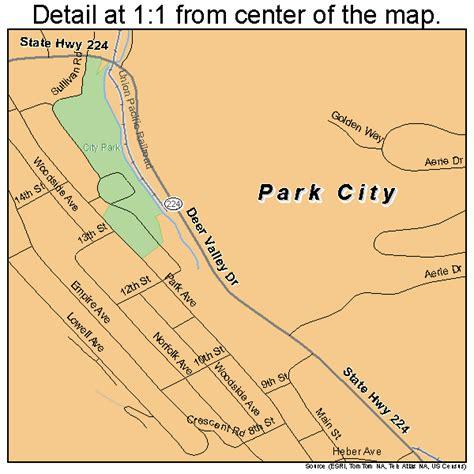 city utah map park city utah map 4958070