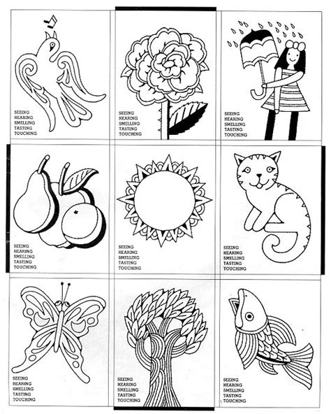 Free Coloring Pages Of The Five Senses Five Senses Coloring Page