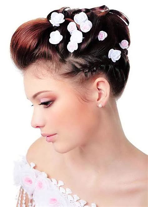 bridal hairstyles for short hair 20 short wedding hair ideas short hairstyles 2017 2018