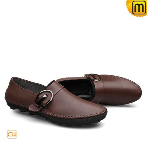 mens designer leather driving loafers cw740379