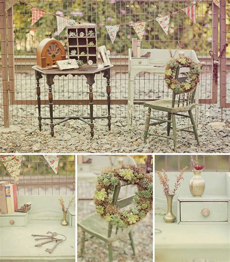 New Vintage Rental Company   Ribbons & Rust   Green