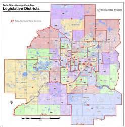 Twin Cities Metro Map by Legislature Elections 2012 7 County Metro Area