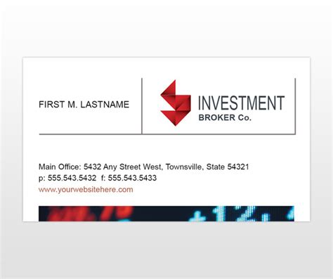 bank business card template investment banks investment banking business card templates