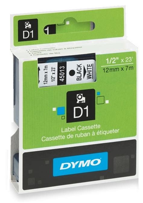 dymo label cassette dymo d1 label cassette 12mm x 7m black on white