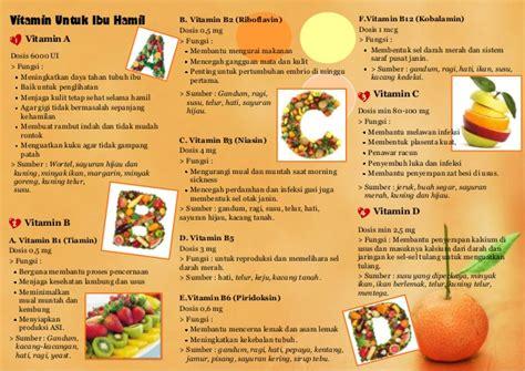 leaflet vitamin  mineral  ibu hamil