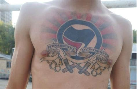 propaganda act tattoo antifa