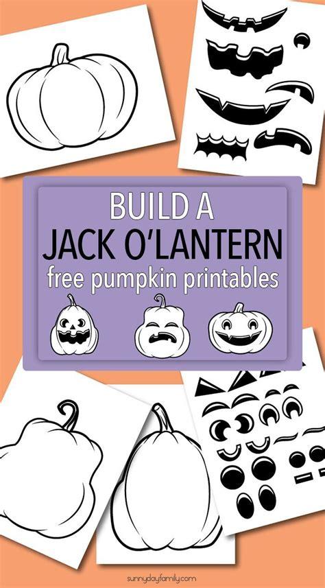 make your own jack o lantern printable build a jack o lantern with fun free pumpkin printables