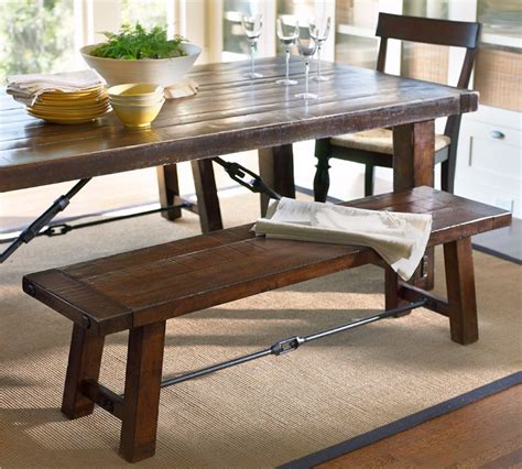 Benchwright Fixed Dining Table Copy Cat Chic Pottery Barn Benchwright Fixed Dining Room Table And Bench