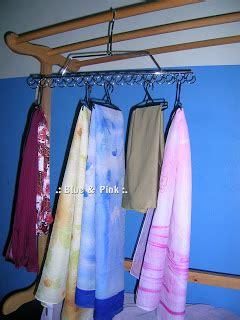 Hanger Pink 8 Lubang blue pink penyangkut tudung dan selendang scarf hanger