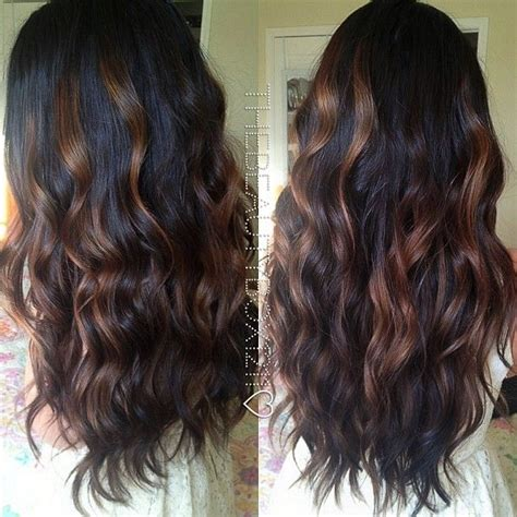 balayage ombre highlights on dark hair dark brunette balayage my hair will look like this