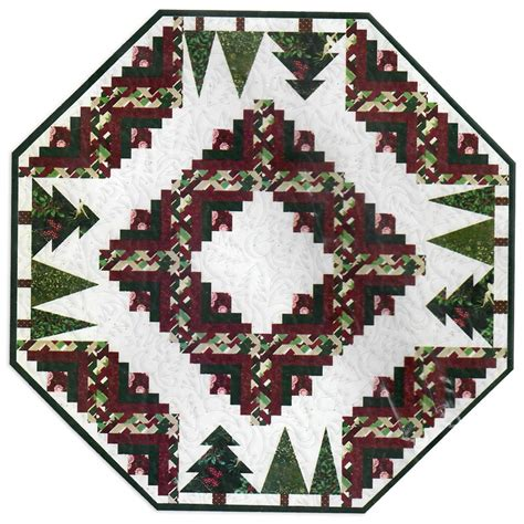 quilted tree skirt kits pinewood tree skirt or table topper kit christine