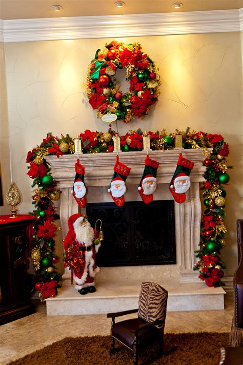 delightful home fireplace christmas design ideas introduce