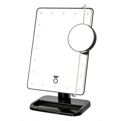 Cermin Lu Led Make Up Mirror 8 Led Lights 1 sharper image 8 15 in x 13 in led lighted tri view mirror js911b the home depot