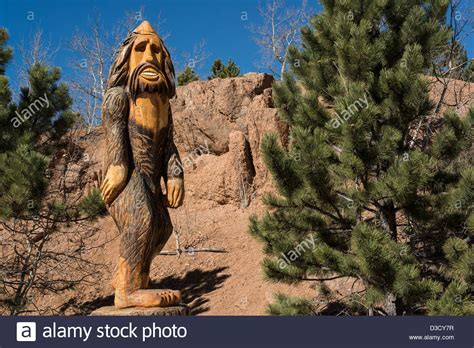 pike national forest map statue of bigfoot in pike national forest colorado usa