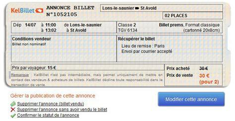 Modification Billet De Ouigo revente billet idtgv