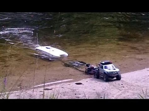 rc boat trailer for traxxas blast rc boat and trailer launch traxxas e maxx and traxxas