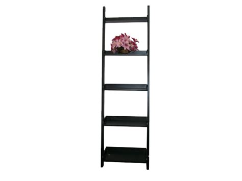 large black leaning ladder bookshelf spa equipment